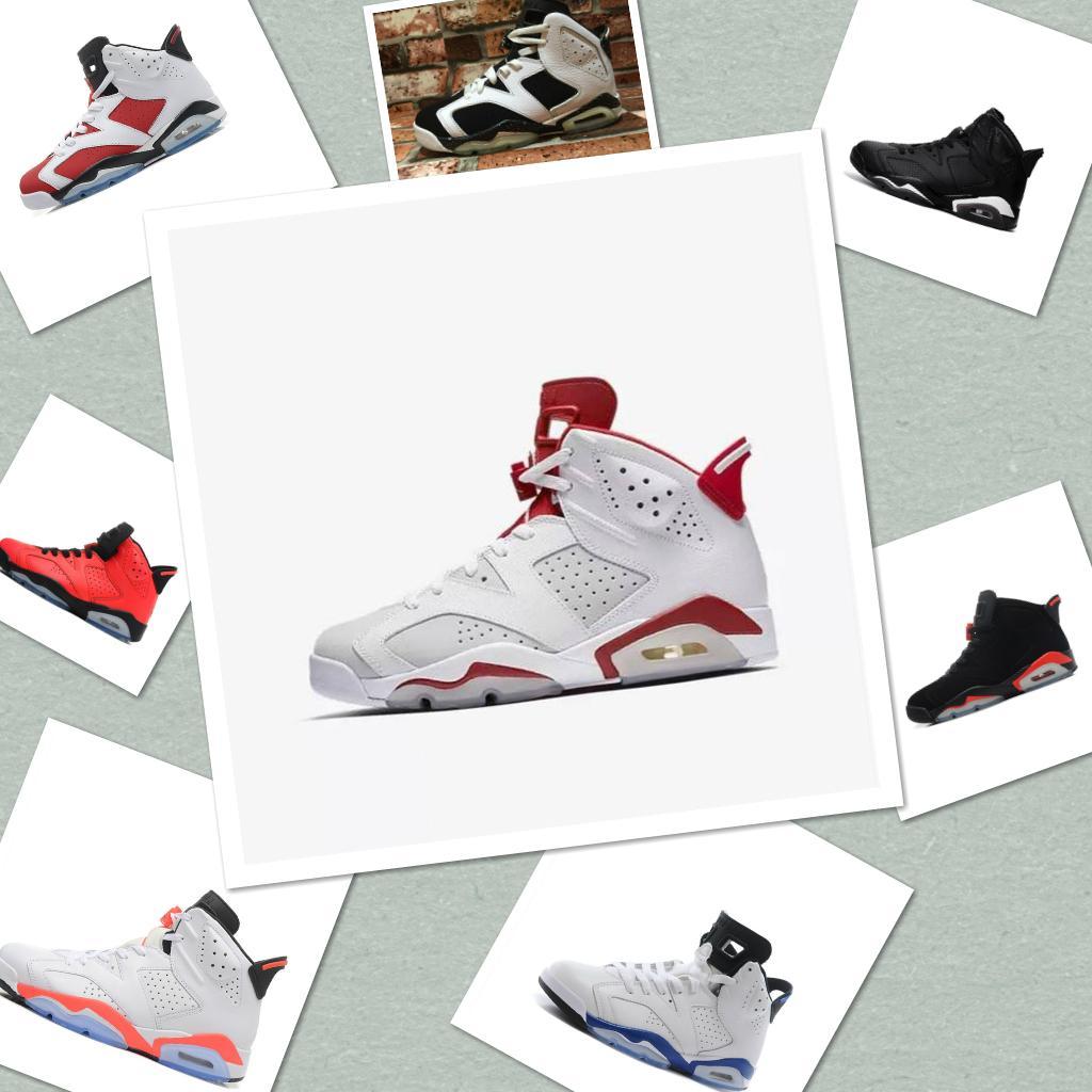 Nike air jordan 6 retro línea nuevos mejores zapatos de Running shoes baloncesto para hombre 6 XI 6 J6 J 6s zapatillas de deporte Carmine Sneakers