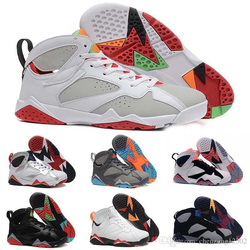5832b2fa90b 7s Classic 7 Men Basketball Shoes Pure Money Hare Bunny Raptor French Blue  Bordeaux Hot Lava Verde Sports Designer Trainer Sneaker Size 7 13 Men  Basketball ...
