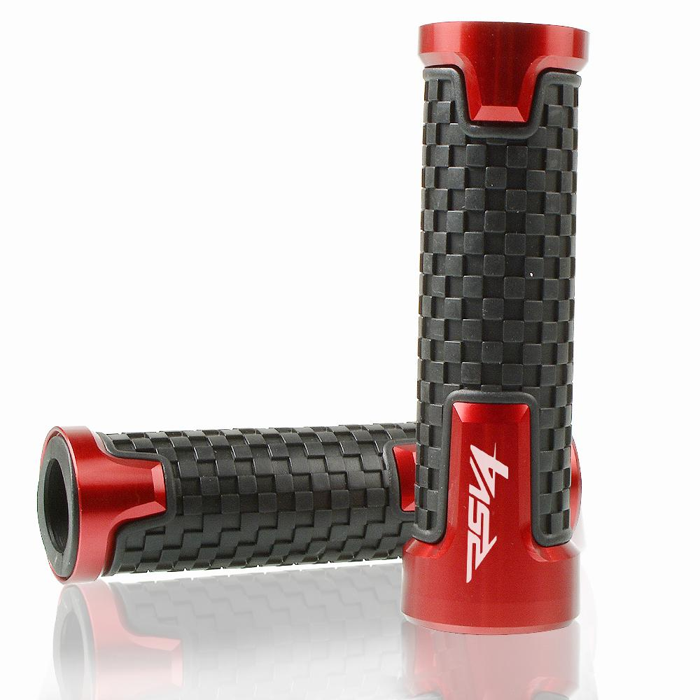 "Motorcycle 7/8"" 22mm Bicycle Grips Precision CNC machined Handlebar Grips Bar Cap Motor Hand Bar for Aprilia rsv4"