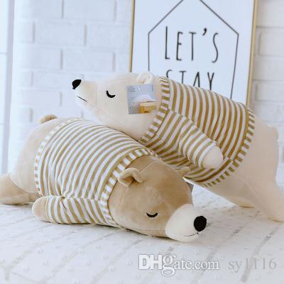 2019 Cute Polar Bear Doll Stuffed Toy Large Polar Bear Pillow Gift