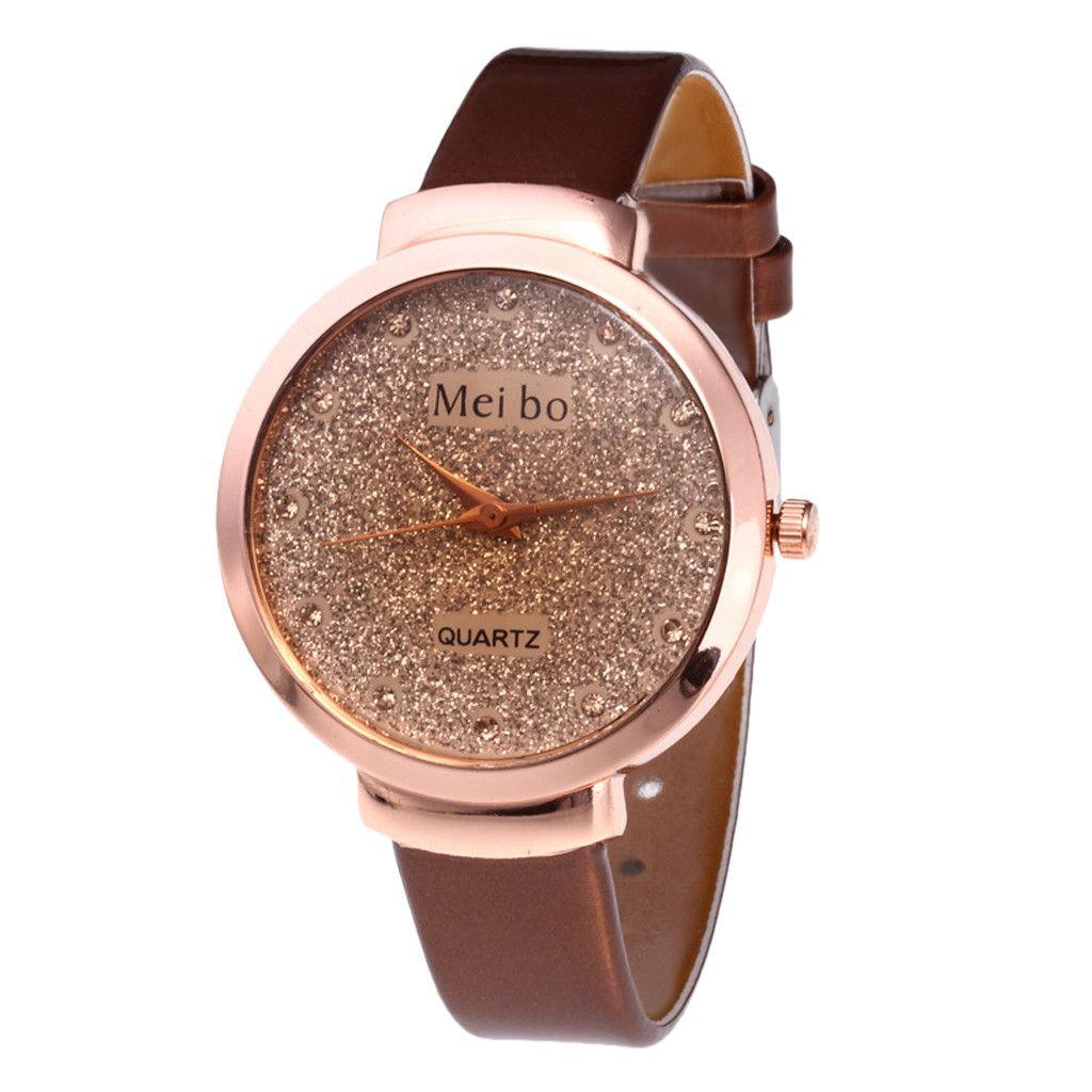 64209abdb62 Compre Relogio Masculino Bonito Moda Simples Relógio De Senhoras Cinto De Couro  Relógio Para Presente 2019 Reloj Hombre Masculino Relógio Relógio 2019 De  ...