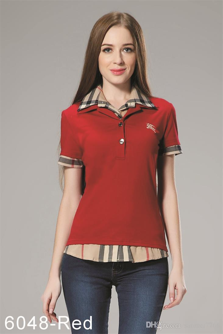 Para Polos Camisetas Blusa Mujer Polo Camiseta 2xl B015 Casual 8 Moda Camisa De Colores 2019 S UzMVSp