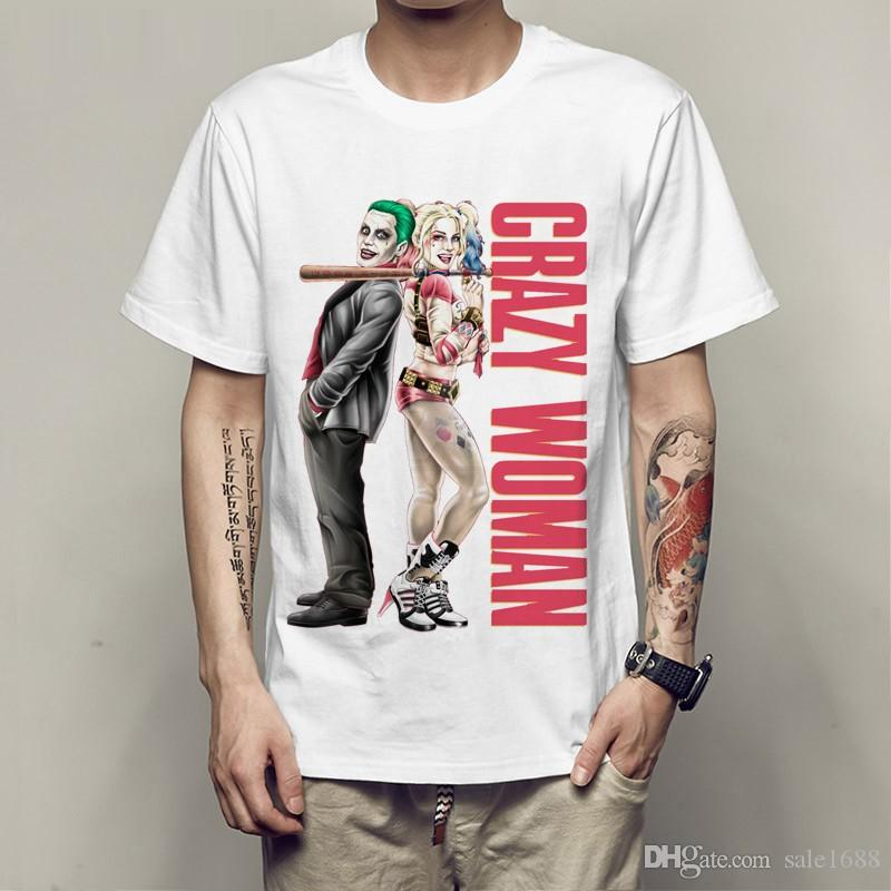 5fecfd0bdc1d DC Comic Joker Suicide Squad T Shirt Harley Quinn T Shirt Joker Cool  Novelty Funny Tshirt Style Men Women Printed Fashion Tees Ti Shirt Best T  Shirt Sites ...