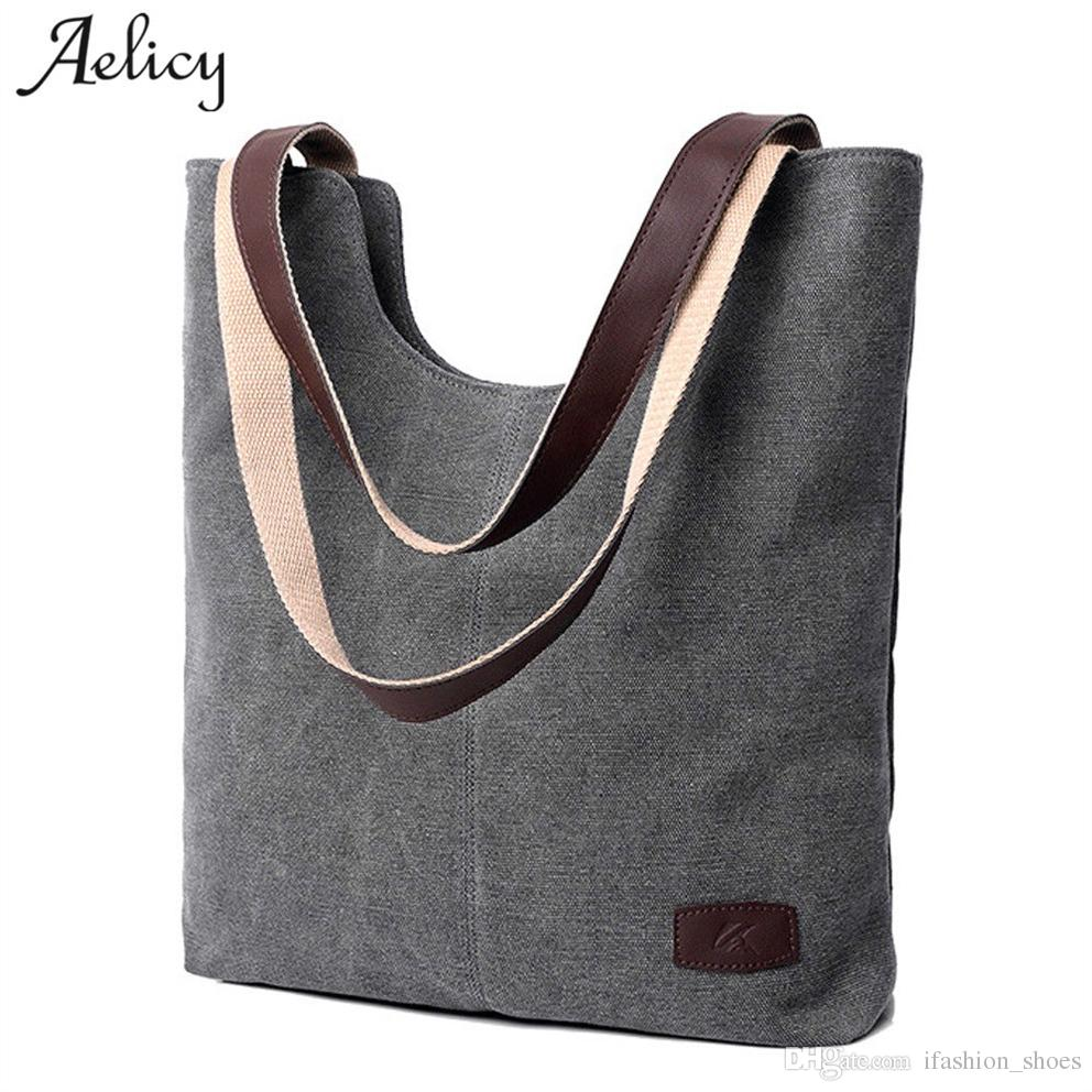 89b932d2e Aelicy Large Capacity Women'S Handbags Shoulder Handbag High Quality 2019  Soft Canvas Ladies Women'S Purses And Hand Bags 1123 #94402 Handbag Sale  Side Bags ...