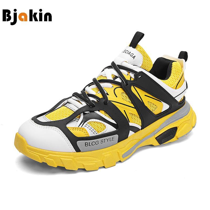 Acquista Bjakin Traspirante New Trendy Old Daddy Shoes Altezza Crescente  Uomini Running Sneakers Walking Sneakers Zapatillas Hombre Deportiva A   35.62 Dal ... 3158697b707
