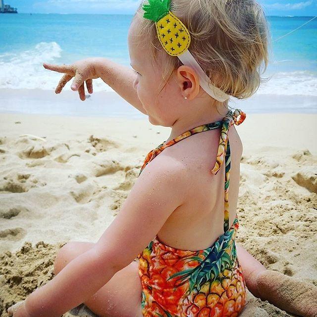 Toddler Girls Pineapple Swimsuit Cartoon Bathing Suit Print Children Swimwear Bikini Tankini Baby Girl Summer Swimming Costume