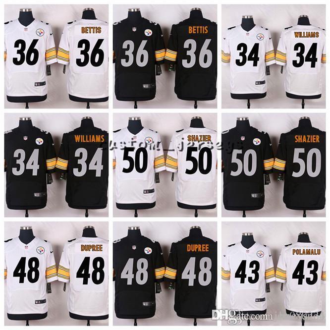 2019 Pittsburgh Steelers  50 Ryan Shazier 48 Bud Dupree 43 Troy Polamalu 36  Jerome Bettis 34 DeAngelo Williams Elite Football Jerseys From Hugh06 cb9af4830