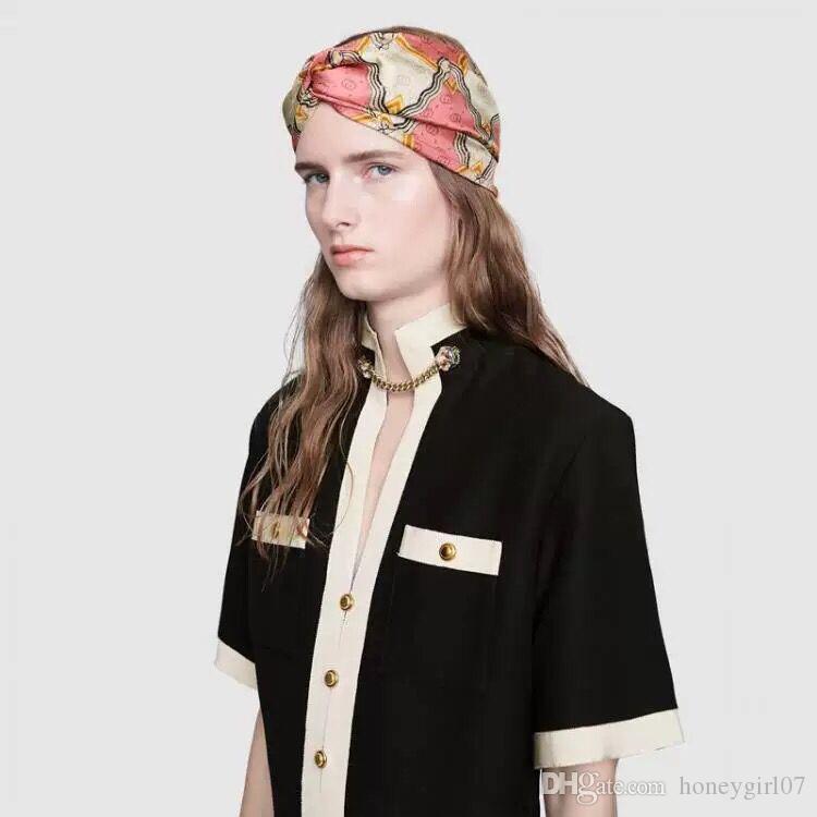 8bc0224e1b1 in Stock Hot Newest Ladies Headbands Pink Rhombus Geometric Patterns ...
