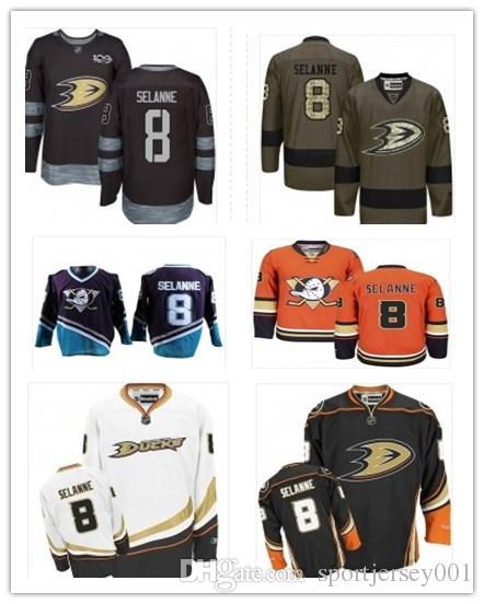 wholesale dealer 66804 bd339 Anaheim 2019 Hockey Jerseys Ducks Stars men/women/youth best 8 Teemu  Selanne Jersey name and number free ship baseball wear