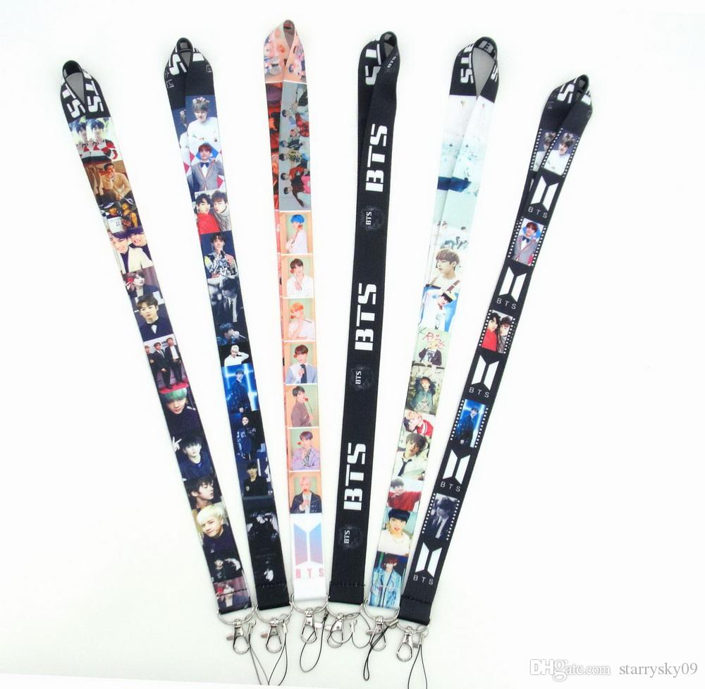 Korean idol popularity combination Lanyard ID Badge Holder Key Neck Strap Kids Gifts Key Chain lanyards Free shipping