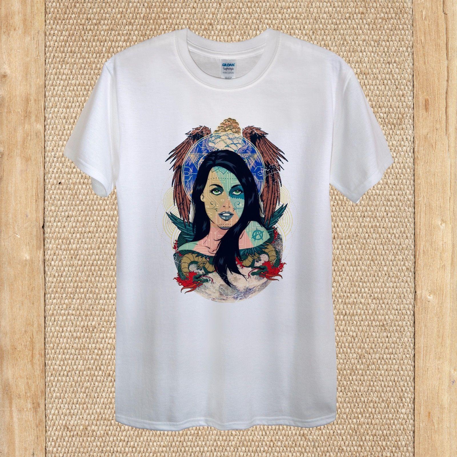 Moon Spirit Creative T Shirt Design Cool High Quality Unisex Women