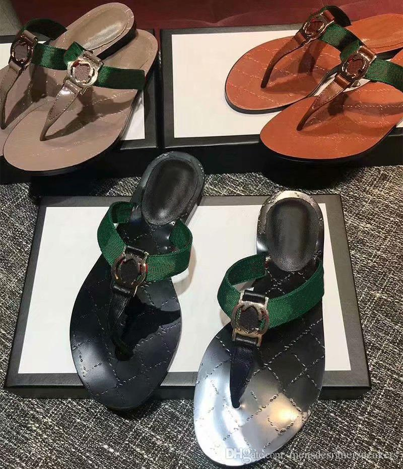 9b8850fe92ee 2019 Hot Sale Women Thong Web Sandal Black White Brown Casual Handmade  Walking Tennis Sandals Slippers Mules Slides Thongs Size 35 42 Girls Shoes  Bearpaw ...