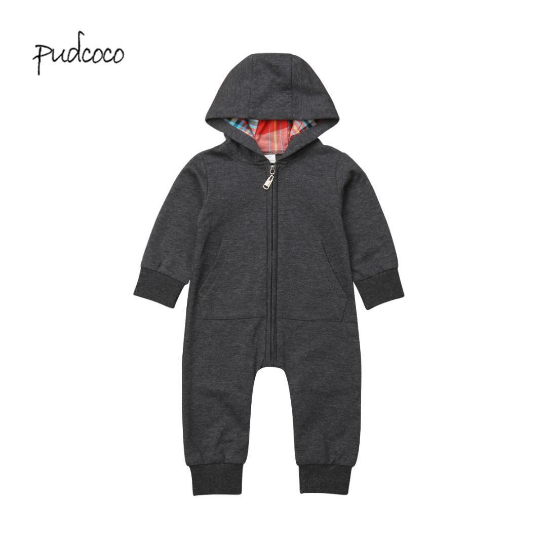 9de44c18033 Pudcoco 2019 New Brand Kids Baby Boy Warm Infant Romper Jumpsuit ...