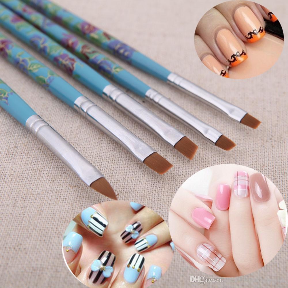 Nail Art Design Brushes Dotting Pen UV Gel Nail Gel Polish Brush ...