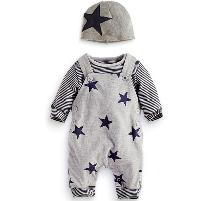 c76be39d0052f 3PCS Baby Clothes Winter Infant Toddler Kids Baby Striped Long Sleeve  Tops+Bib Pants+Overall Hat Set Clothes Baby Sets JE26#F