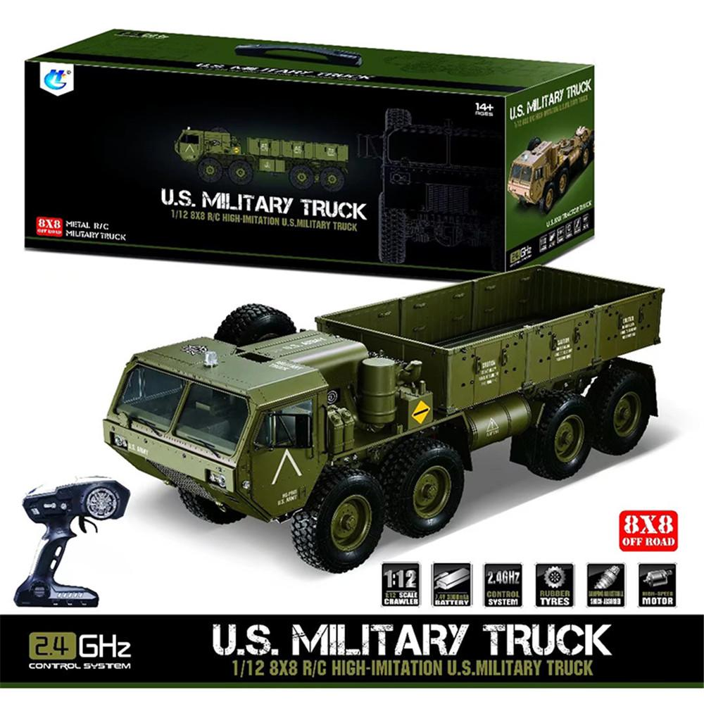 Newest HG P801 P802 1/12 2.4G M983 739mm Brushed Rc Car US Army Military Truck Without Battery Charger Rcing Car For KId Gift
