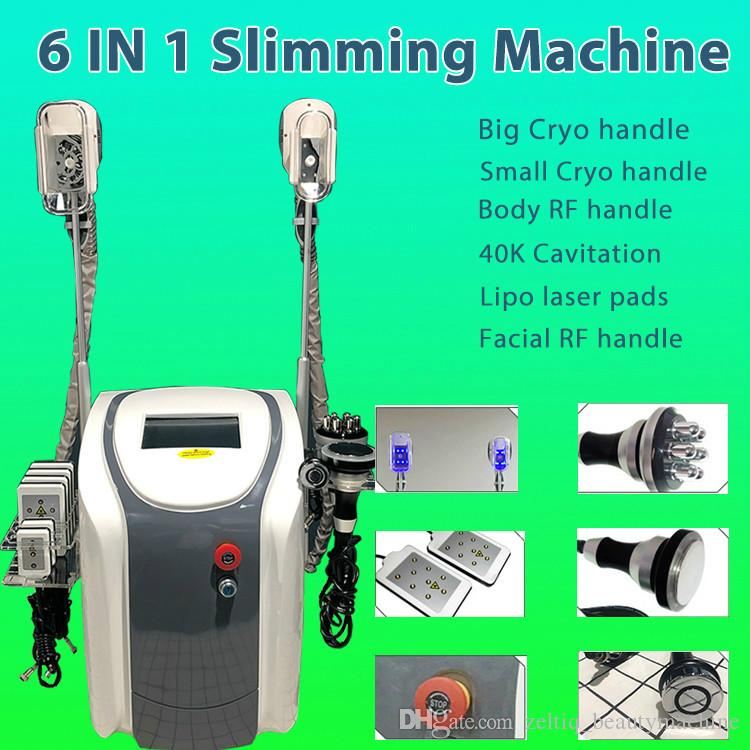 cryotherapy machine fat freeze face lifting slimming beauty equipment with  2 handles can work at the same time
