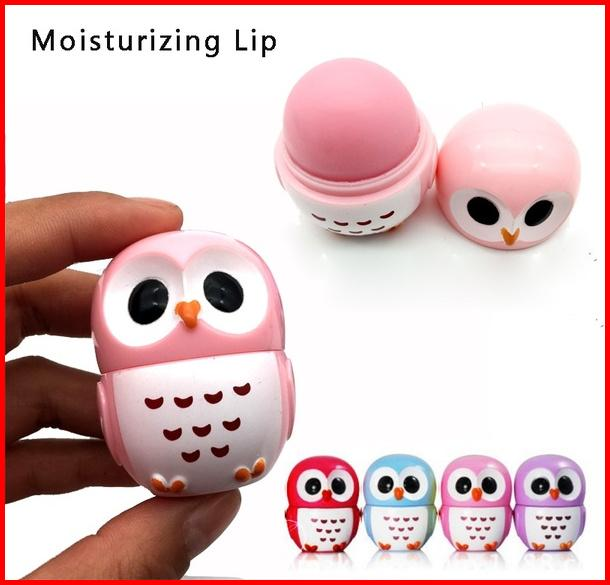 lipstick organizer Candy Color Owl Shape Moisturizing Lip Balm Natural Plant Sphere Lipstick Fruit Flavor Lip Pomade Makeup Beauty Cosmetic