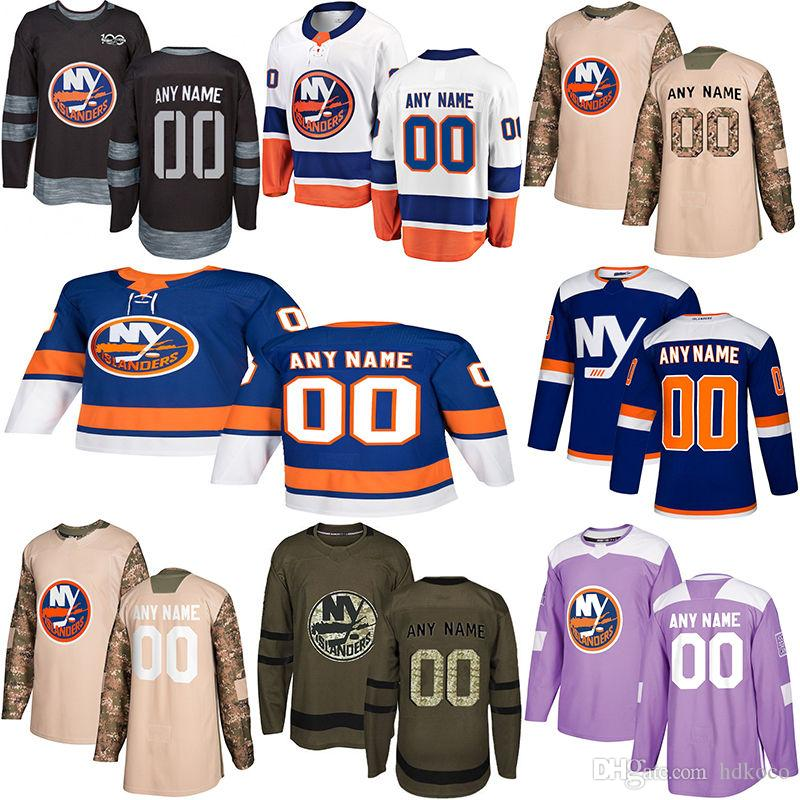 2019 New York Islanders Hockey Maglie stili multipli Mens Custom New York Islanders Qualsiasi nome Qualsiasi numero Hockey maglie