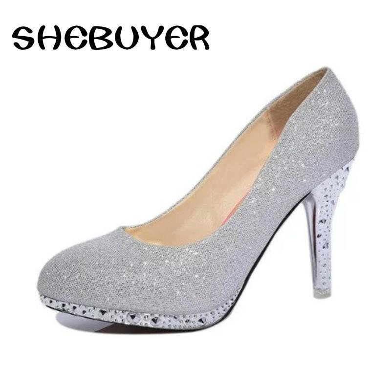 a42652434f8 Dress 2019 Sexy Women Spring High Heel Shoes Ladies Elegant Pumps Woman  Footwear Thin Heels Round Toe Platform Party Webbing Shoes Mens Dress Shoes  Prom ...