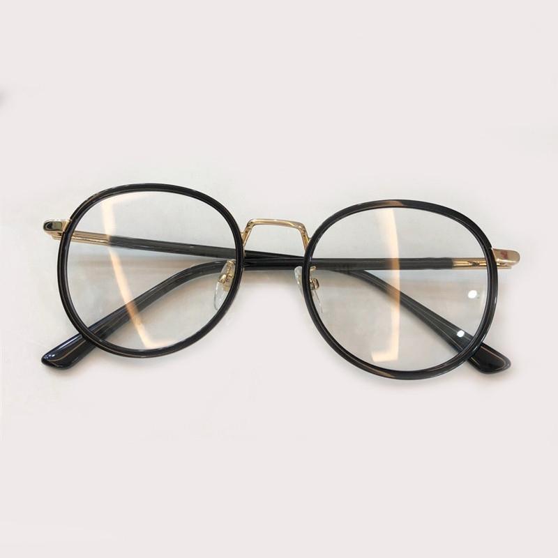 1cc66a8996 Compre Sin Montura Gafas Redondas Hombres Lente Óptica Transparente Nueva  Marca De Moda Gafas Mujeres Vintage Anteojos Miopía Retro A $91.9 Del  Taihangshan ...