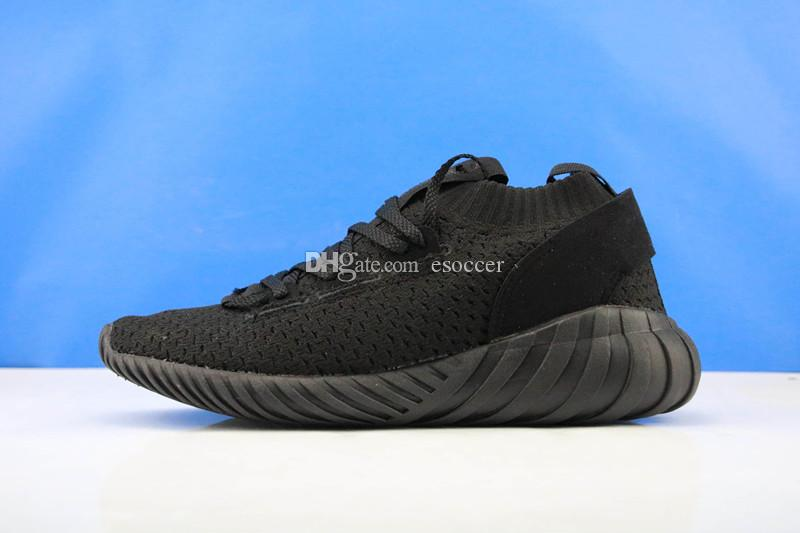 c9ba2a136d70d1 2019 Tubular Doom Sock Knitting Mens All Black White Running Shoes 2019 New  Top Quality Tubular Boots Shoes Size 39 45 From Esoccer