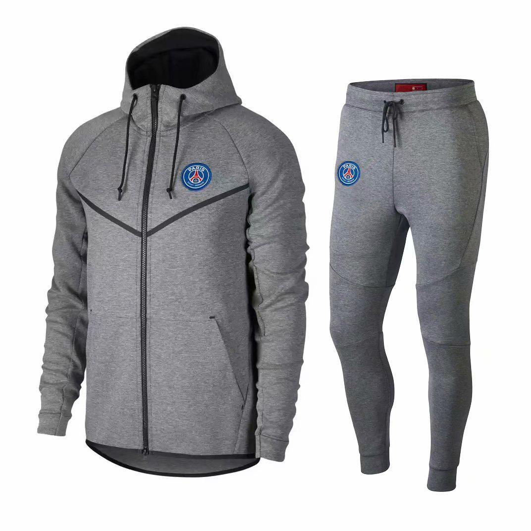 6bce97a18a21 Neue Top 2019 Brasilien PSG Paris Mann Stadt Fußball Trainingsanzug Hoodie  Fußballjacke Kit Reißverschluss Trainingsanzug Pullover Winter Set