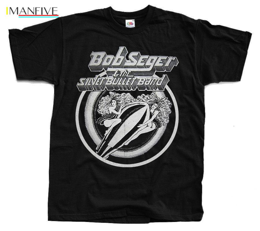 BOB SEGER And the Silver Bullet T-Shirt (Black) S-3XL Top Quality Cotton Casual Men T Shirts Men Free Shipping