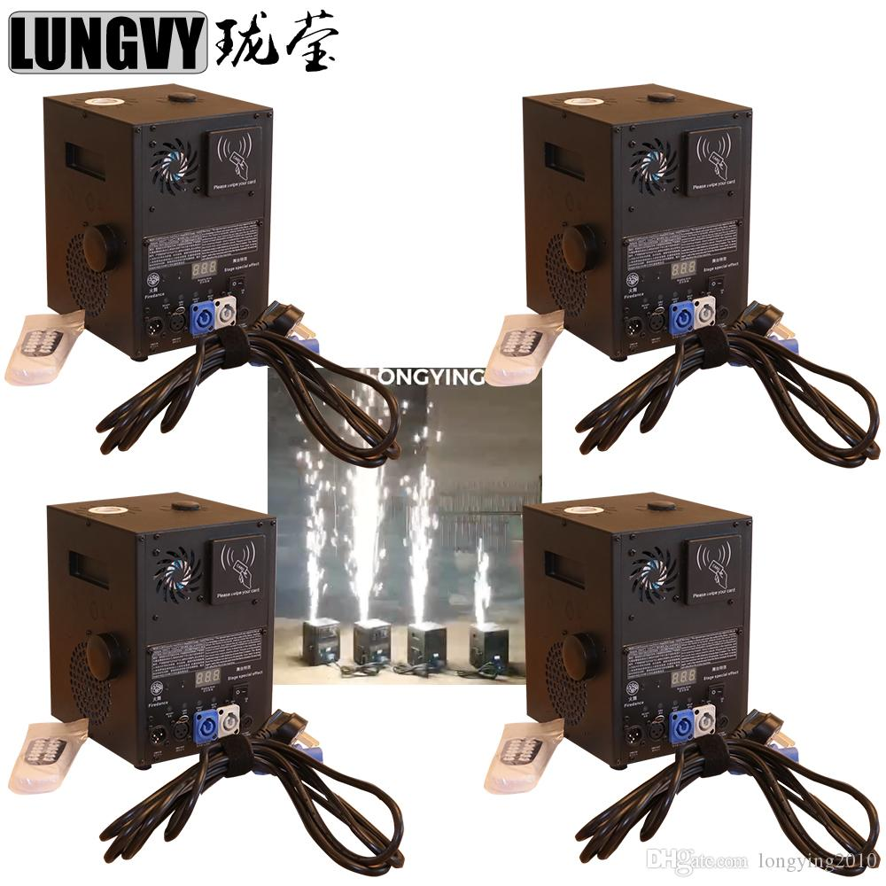 Free Shipping 4pcs/lot New 400W Remote DMX Control Stage Cold Spark  Fireworks Sparkular Machine For Outdoor Indoor Wedding Celebration Party