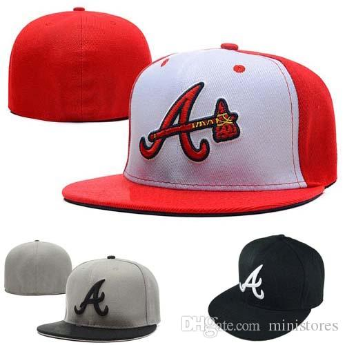 Fashion Men Letter A Cap Fitted Hats Atlanta Flat Brim Embroiered Brand Designer Team Fans Full Closed Chapeu Sports Baseball Caps