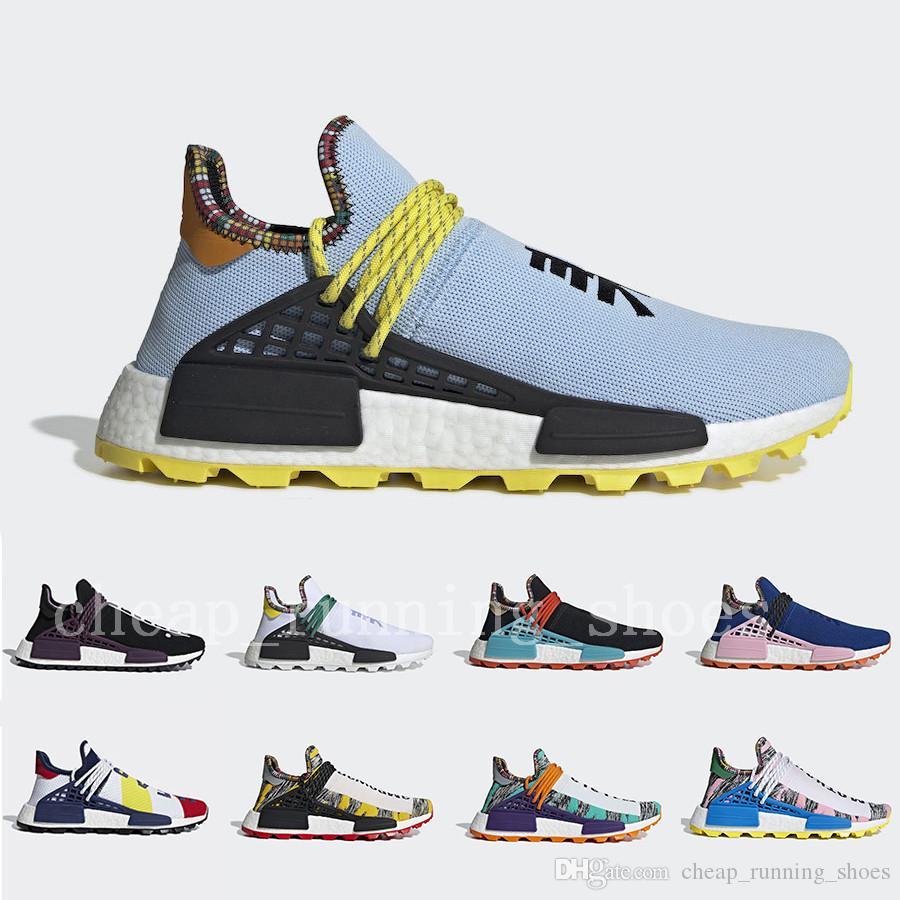 Adidas Boost NMD Human Race Menschen Rennen Trail Solar Afro Pack Männer Frauen Laufschuhe Nerd Pharrell Williams HU SOLARHU Schwarz Weiß Sport