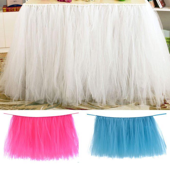 825867169 Mantel Tutu para bodas Baby Shower Paño de mesa Fundas de mesa de tul para  bodas Fiesta de cumpleaños Falda de mesa Vestido de falda de tutú de ...
