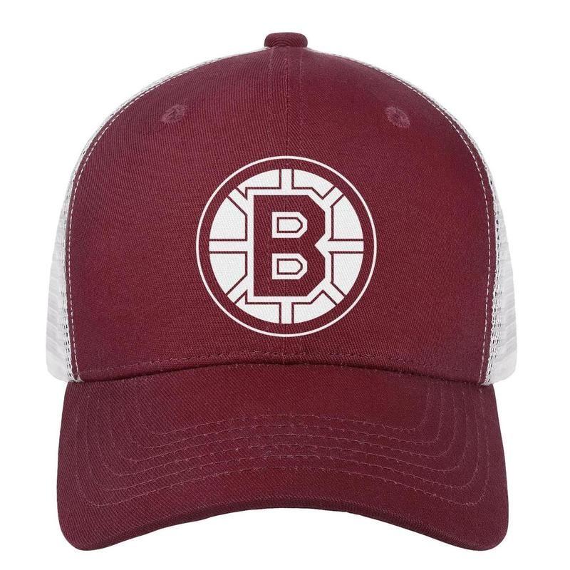 54d7ae229 Ice Hockey Boston Bruins LOGO mens guys snapback hat casualfashion  adjustable women s sun cap Hipster baseball cap mesh basketball hats