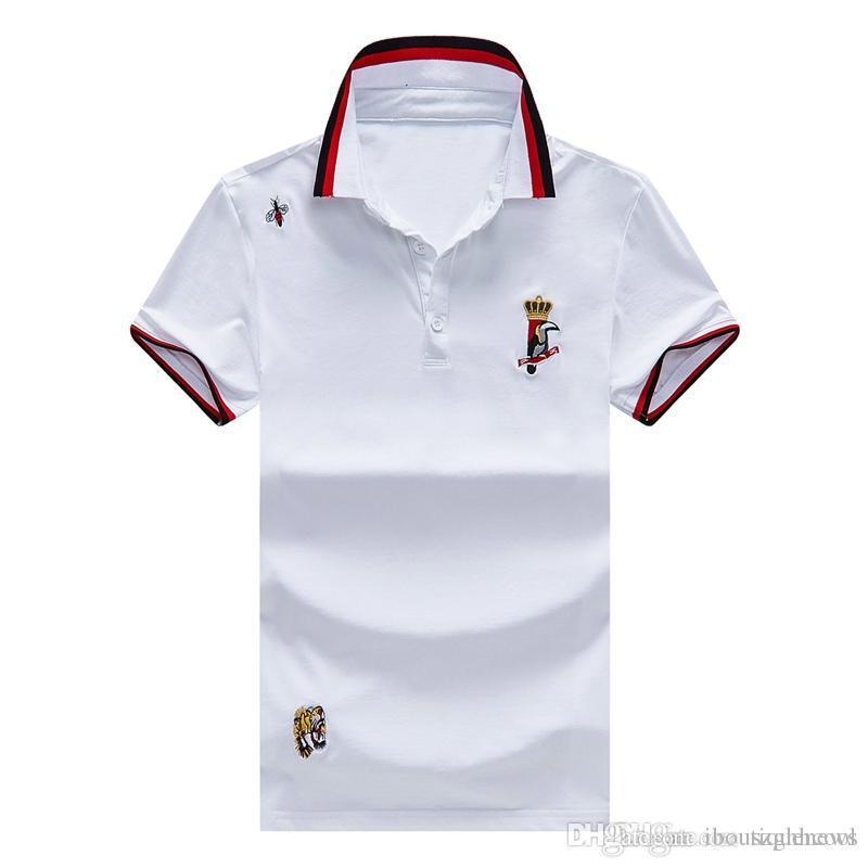 a0900092003 19SS Womens Designer Polo Shirts Men T Shirt Letter White T Shirt ...