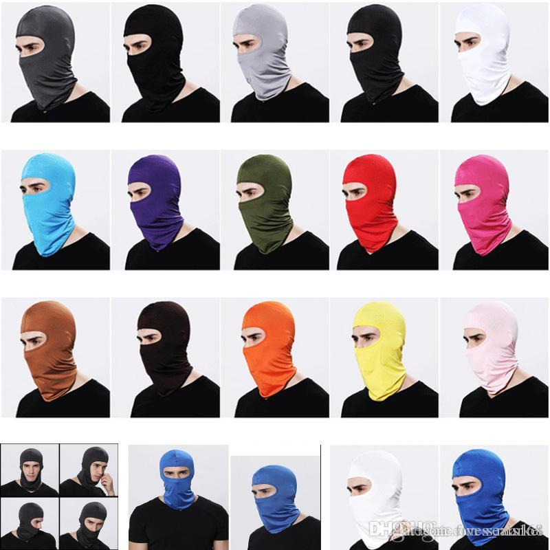DHL Windproof Cycling Face Masks Winter Warmer Full Face Balaclavas Bike Motorcycle Scarf Mask Snowboard Ski Headgear Mask 13Colors HH7-1905