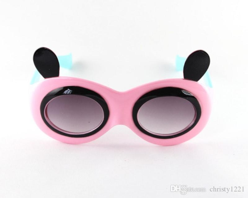 Fashion Kids Cartoon Panda Sunglasses Polarized Sun Glass UV400 Eyewear Shades Googles For Baby Children Multicolors YC3133