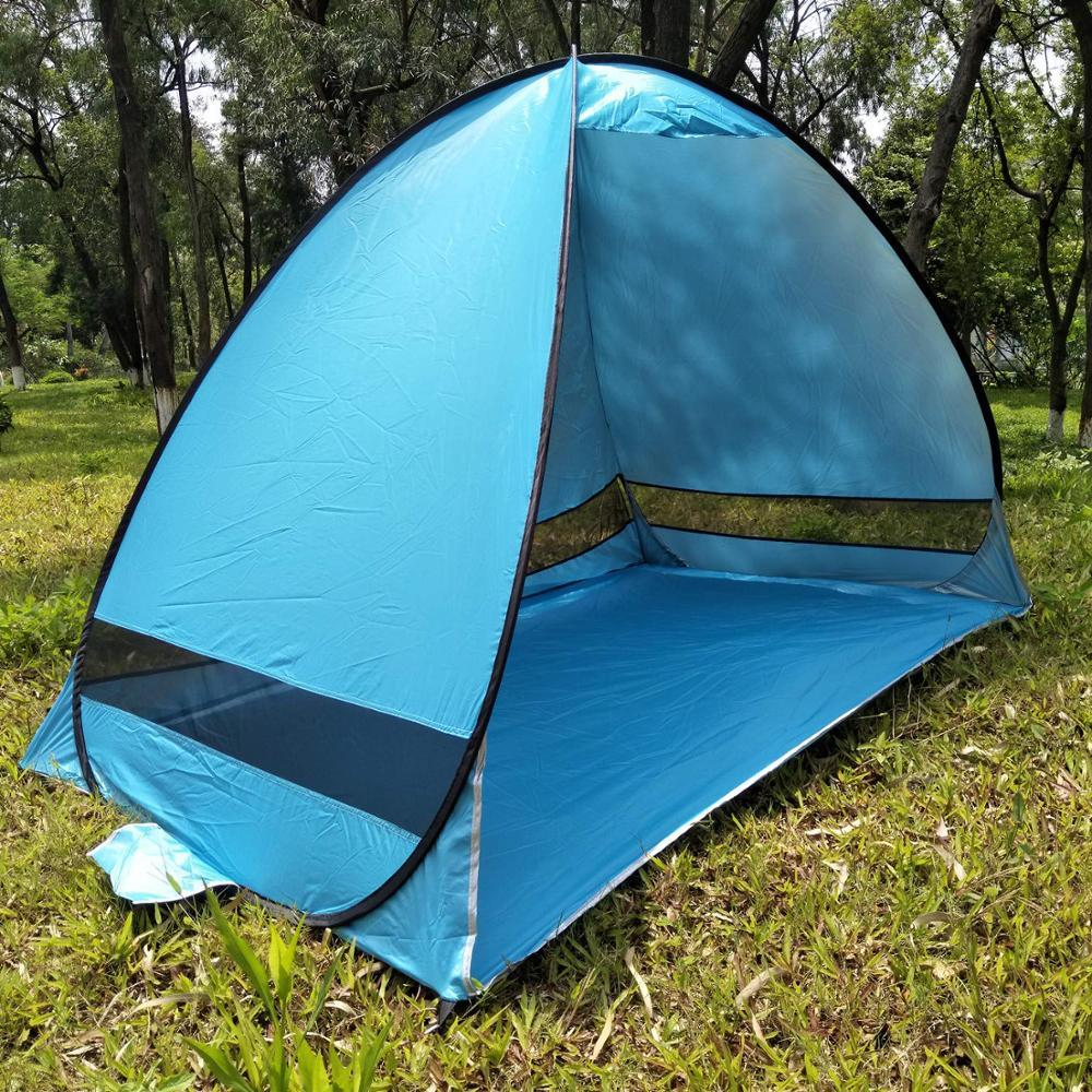 the latest 40825 d6d77 Automatic Pop Up Beach Tent Sun Shelter Cabana 2-3 Person UV Protection  Beach Shade with Carry Bag for Outdoor Activities
