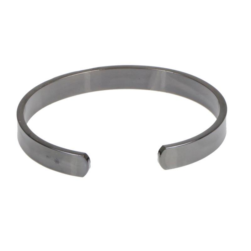 Healthy Copper Magnetic Therapy Bio Bracelet Men Jewelry Energy Magnet Black Open Bangles