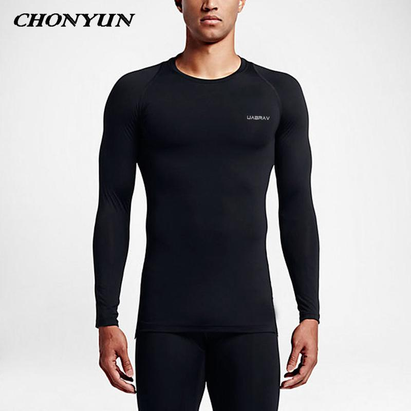 New Running Shirt Compression Tights Men Fitness Dry Fit Long Sleeve Sport Shirt Rashgard Gym t-shirt Cycling Sportswear For Men