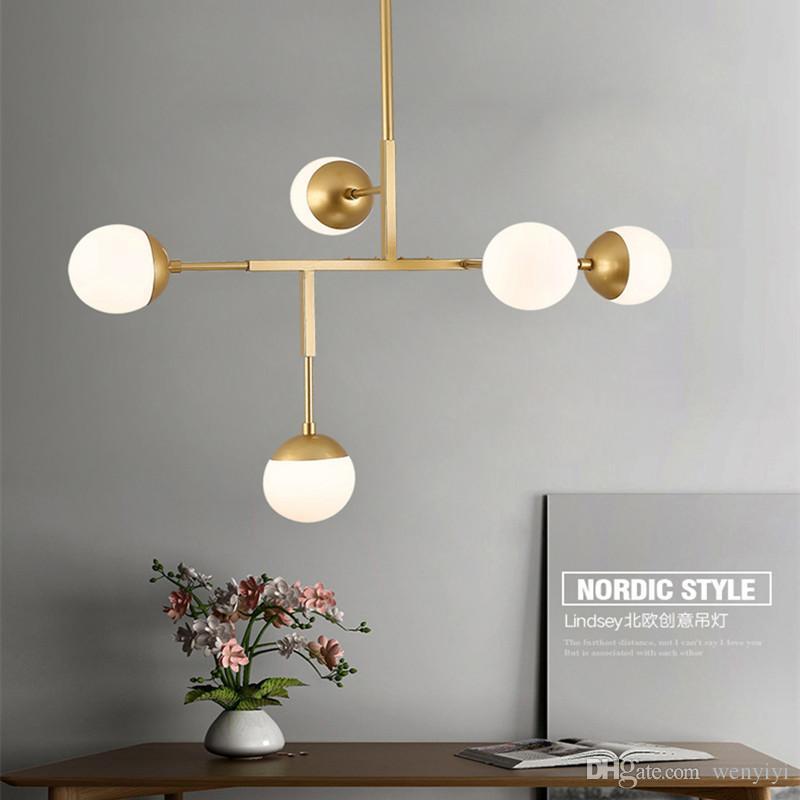 Lights & Lighting Modern Chandeliers Led Pendant Lamps Living Room Lighting Nordic Luminaires Novelty Fixtures Glass Ball Loft Hanging Lights