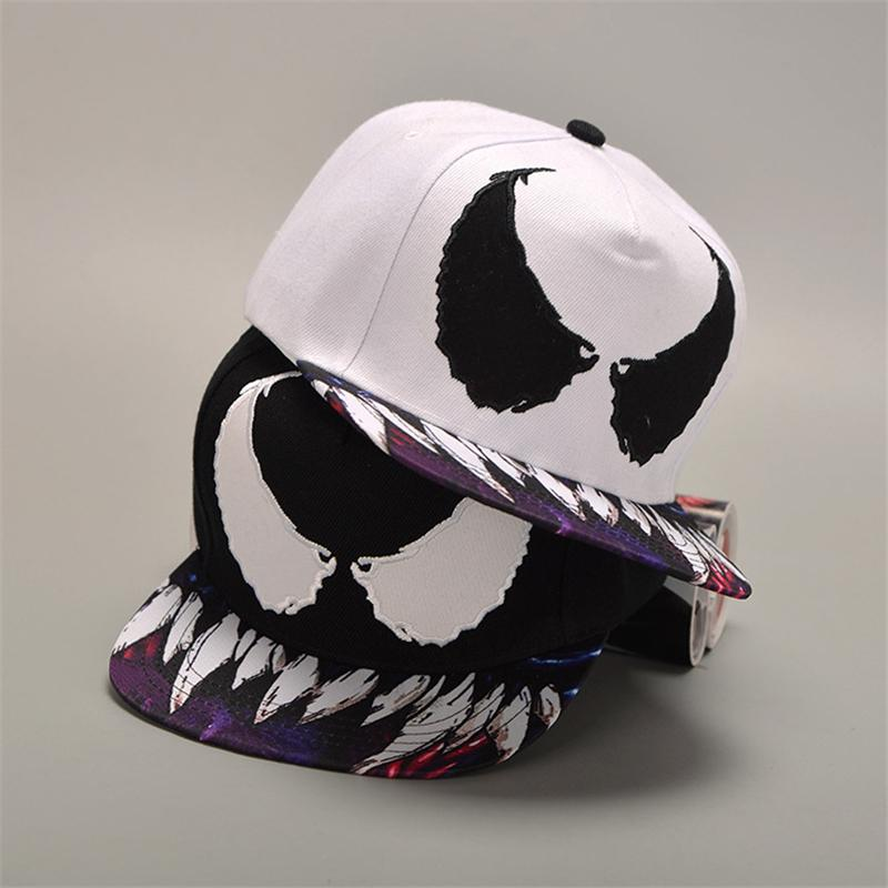 Venom Baseball Cap Cospaly Costume Hat Acrylic Hip Hop Hats Adjustable  Women Men Halloween Gifts Photo Birthday Party Hats Photo Party Hats From  ... a90dde490d1