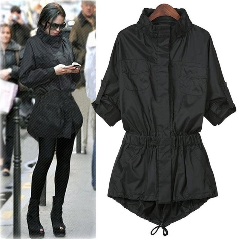 10d46929d7cc5 2019 Women Plus Size Trench Coat 2017 Winter Women Long Coats Street  Fashion Casual High Neck Slim Outwear Windbreaker Jacket From Beebed