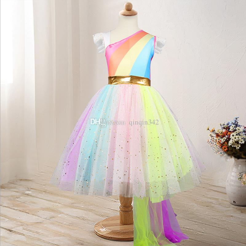 63549b85 2019 2019 Summer Baby Girls Designed Unicorn Tutu Dress Fairy Rainbow  Princess Tulle Dress Children Birthday Party Gifts Cosplay From Qinqin342,  ...