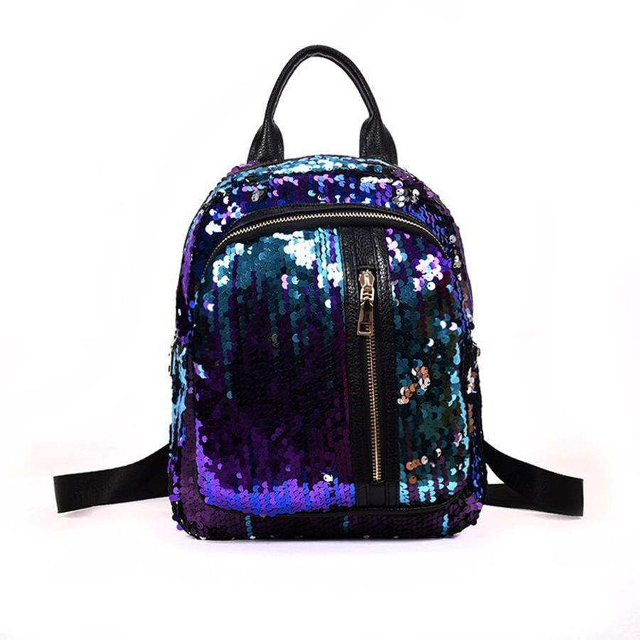 Women Sequin Travle Portable Backpack Lady Sequin Casual Backpack Student Teenagers Sequin School Bags Cute Shoulder Bags RRA466