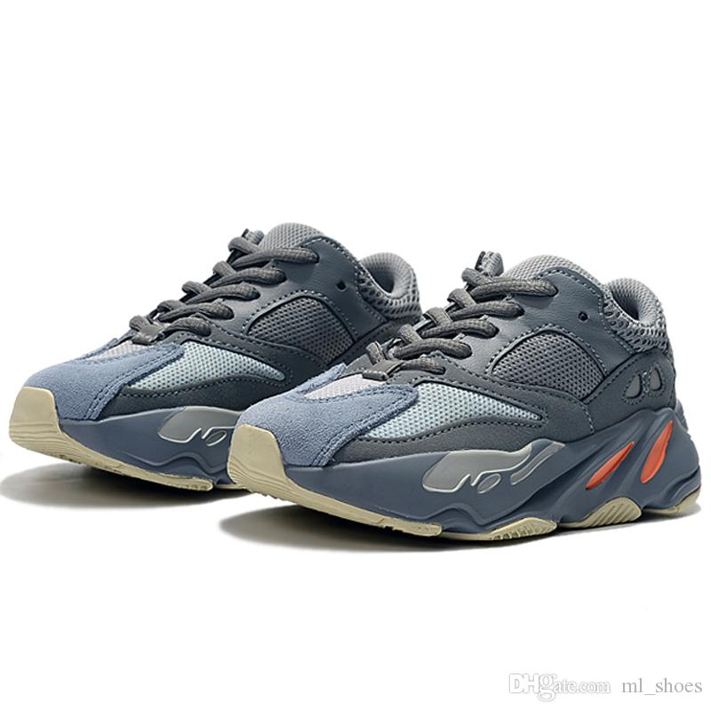 low priced abec9 1b23b Hot Sale Kids Shoes Wave Runner 700 Style Kanye West Running Shoes Boy Girl  Trainer Sneakers Children Athletic Shoes
