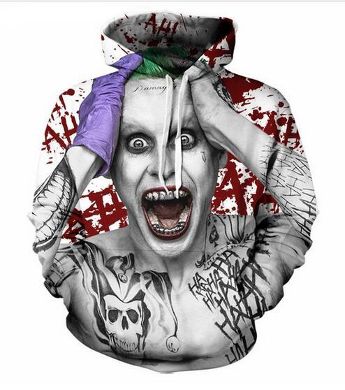f6f51f5f9f03 2019 Unisex Suicide Squad Joker Funny 3d Print Casual Crewneck Hoodie Men  Women Clothing Harajuku Style Pullover Jackets Brand Quality Coat YT073  From ...
