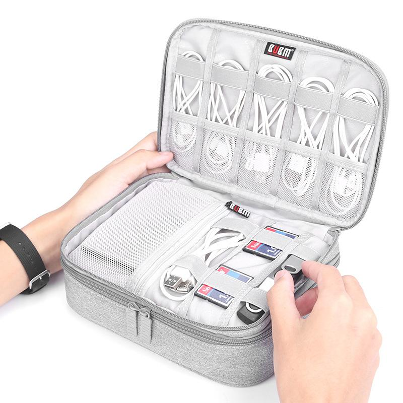 Travel Luggage Organizer Digital Accessories USB Cable Storage Bags ... 03c326312c5d2