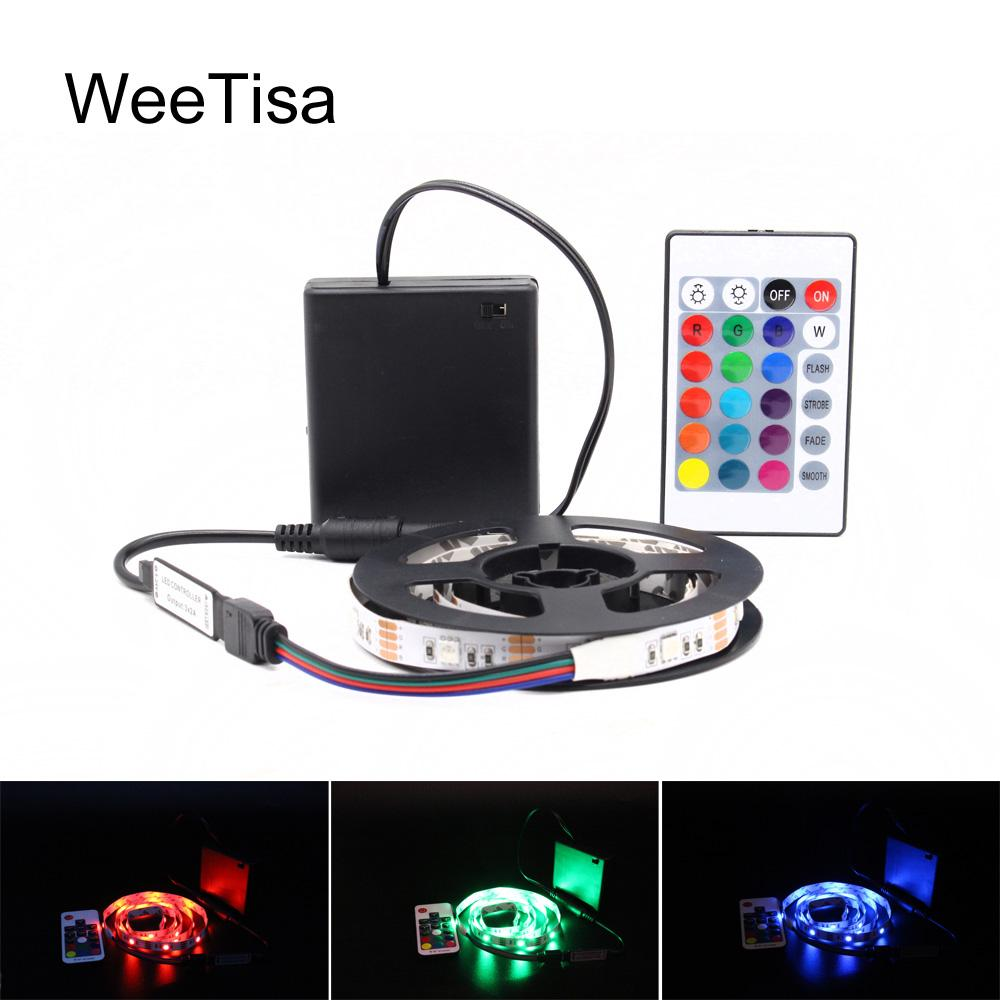 Ribbon Rgb Led Strip Battery Operated Smd 5050 Tape Lights