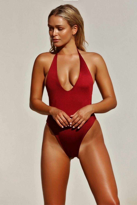 903be7f1a4c 2019 Women One Piece Swimsuit 2019 High Cut Swimwear Women Solid Deep V  Bathing Suits Sexy Beachwear Brazilian Swim Wear From Sexforyou, $11.06    DHgate.Com