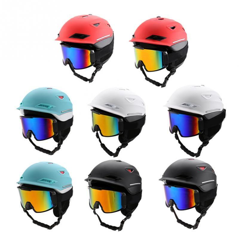 9fc7832a01 Compre Adultos Gafas De Esquí Casco Hombres Mujeres Deportes De Nieve Esquí  Snowboard Patinaje Sobre Protección EPS Casco Antiniebla Conjunto De Gafas  A ...
